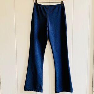 Vintage Kick Flare Leggings in Navy Blue